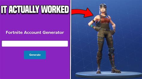fortnite account generator so i used a fortnite account generator and it