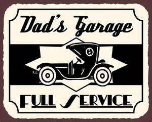 s garage fashion car vintage metal by