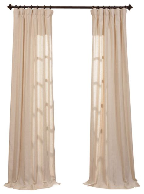 natural linen curtains lanai natural linen blend stripe curtain single panel