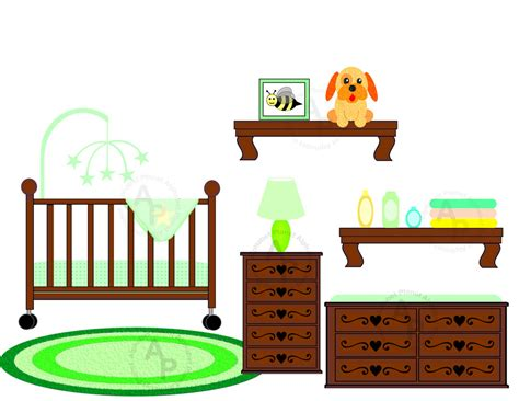 Crib Clipart by Nursery Clip Cliparts Co