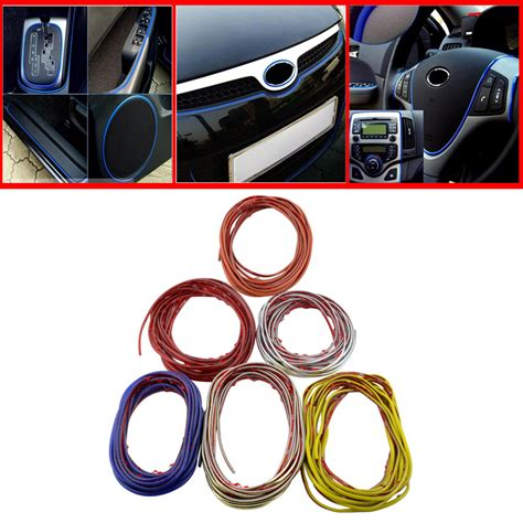 Car Interior Stickers by 5m Auto Car Sticker Stickers Decoration Thread Car Styling