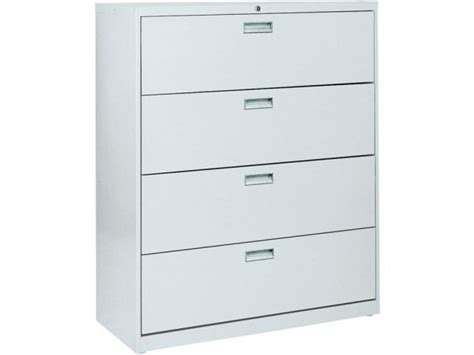 42 Lateral File Cabinet 600 Series Lateral File Cabinet 4 Drawer 42 W Sfl 424 Metal File Cabinets