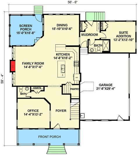 farmhouse floor plans with pictures open floor plan farmhouse 30081rt 2nd floor master