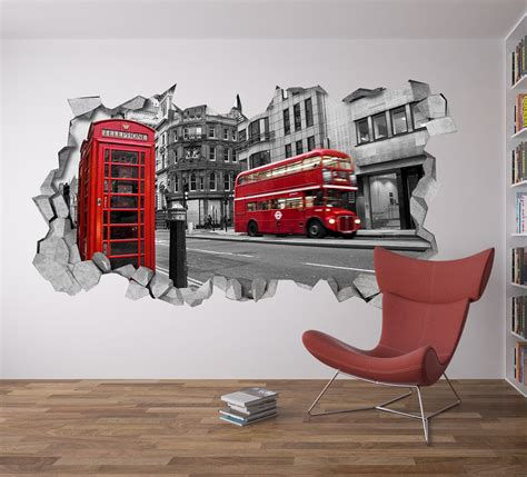 Sticker For Wall Decoration londres d 233 coration murale moonwallstickers com