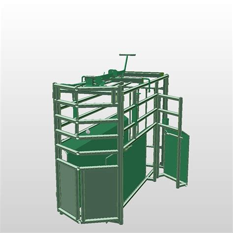 Mibil Rodeo roping chute with side access gate roping chutes hi hog