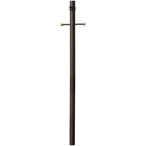 home depot l post outlet hton bay 2 piece bronze l post with cross arm