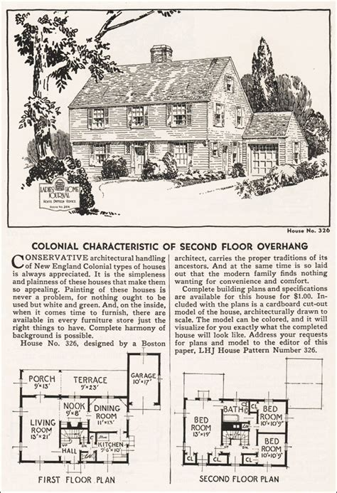 Garrison House Plans Garrison Colonial House Plans 1935 Garrison Colonial Revival Home Journal House Plans