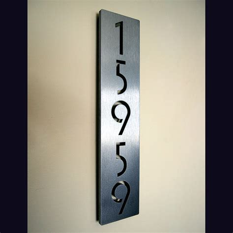 address numbers address plaques modern house numbers los angeles