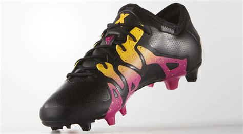 black pink yellow black pink gold adidas x 2016 boots released footy
