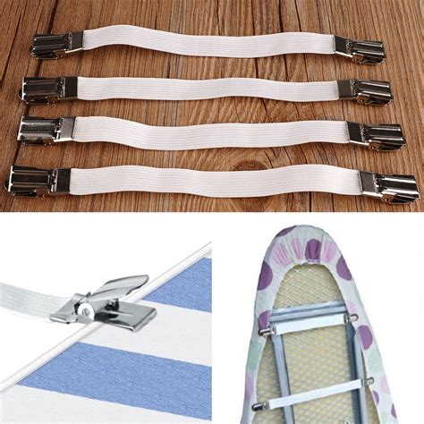 4pcs metal bed sheet fasteners mattress strong clip