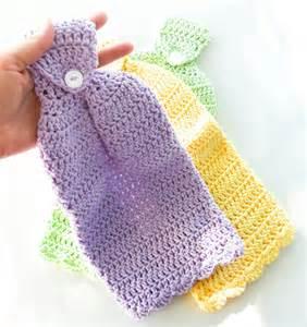 Crochet Kitchen Towels by Crochet Hanging Dish Towel Set Of 1 Cotton Kitchen Towel