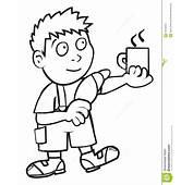 Boy And Breakfast Coloring Book Stock Vector  Image