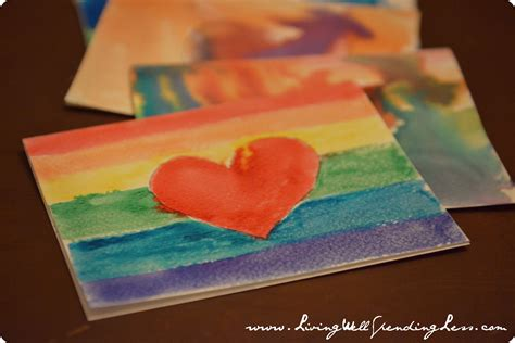 to make with children diy watercolor thank you cards living well spending less 174