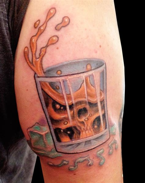 tattoo liquor 40 awesome whiskey tattoos for liquor pics