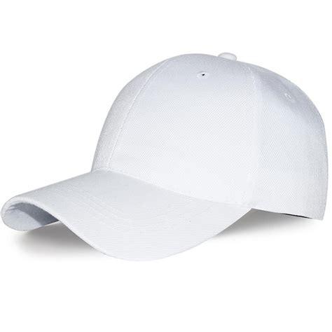plain baseball cap in white intl 2017 adjustable color blank curved plain