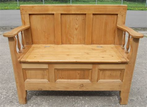 hallway seating benches pine hall settle bench storage box seat sold