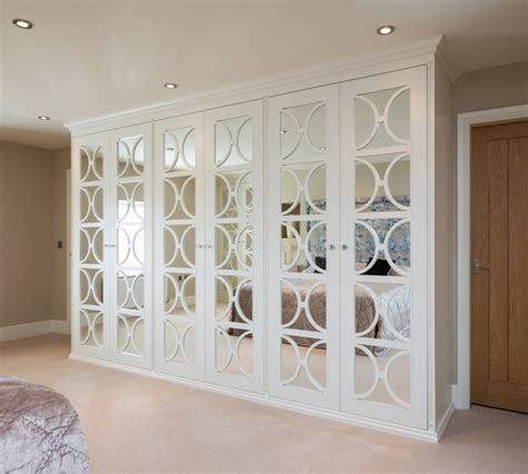 Mirrored Bedroom Wardrobes by Mirrored Wardrobes With Fretwork