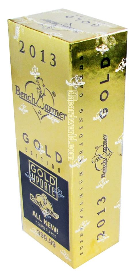 bench warmers cards benchwarmer gold edition update trading card box 2014