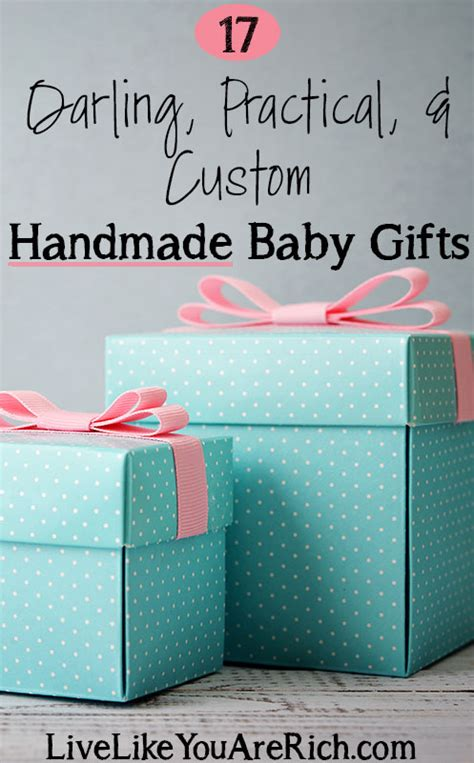 Handmade Baby Gifts To Make - 17 practical custom handmade baby gifts live