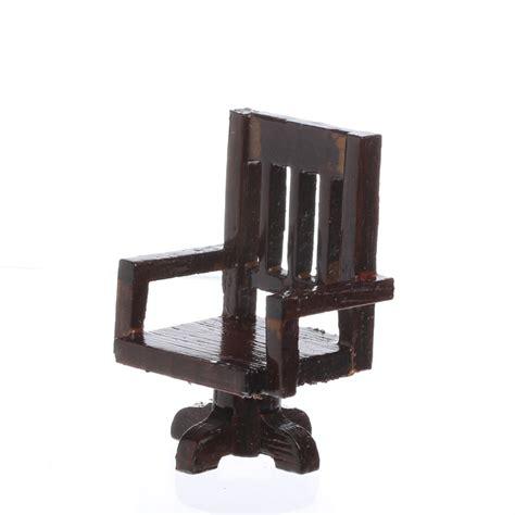 dollhouse miniature rustic wood desk chair miniature