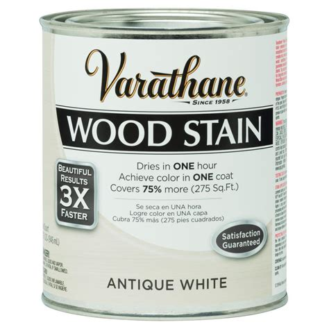 varathane 1 qt 3x antique white premium wood stain 287755 the home depot