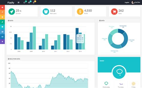 bootstrap refresh layout v2 0 download flatify responsive admin web app bootstrap