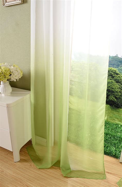 transparente gardinen mit muster vorhang transparent schal 214 sen gardine voile farbverlauf
