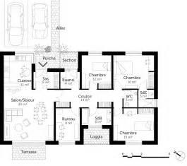 plan avec 3 chambres et bureau ooreka