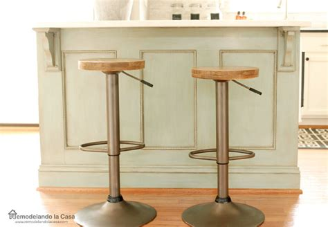 Blue Rustic Bar Stools by Bar Stool Makeover From Modern To Rustic Industrial