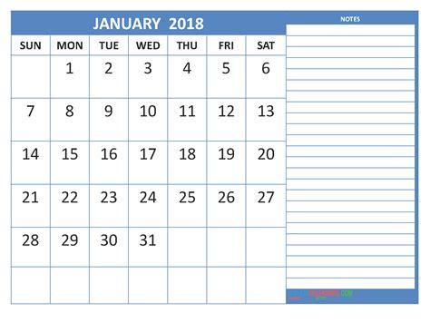 Calendar 2018 Format Free January 2018 Calendar In Printable Format Calendar