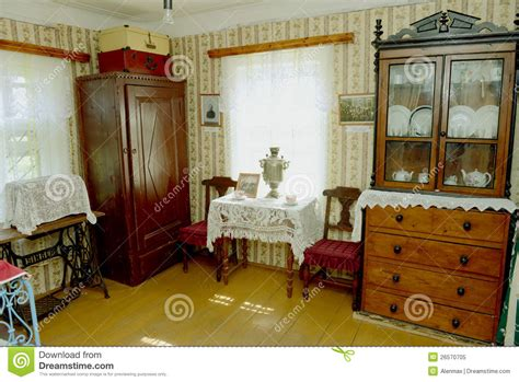 russian home russian old house interior editorial image image of room