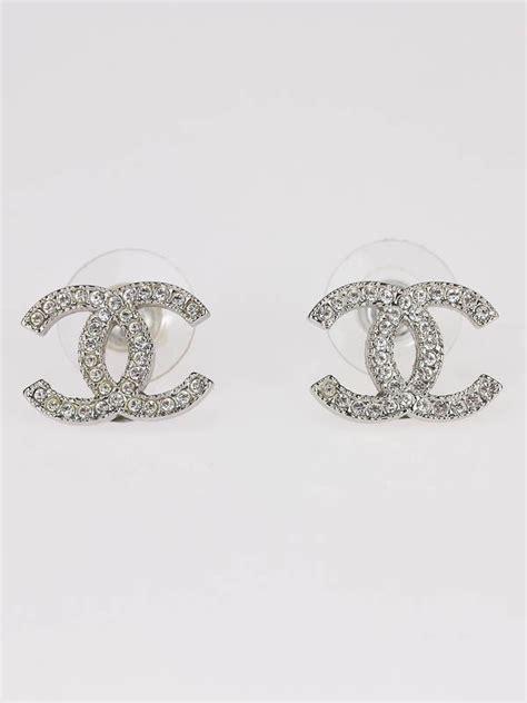 chanel classic swarovski cc logo earrings logos