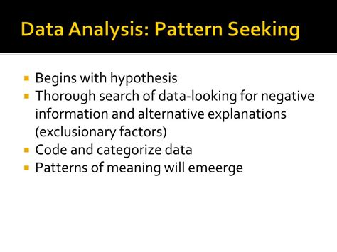 pattern data meaning ppt patterns of strengths and weaknesses psw