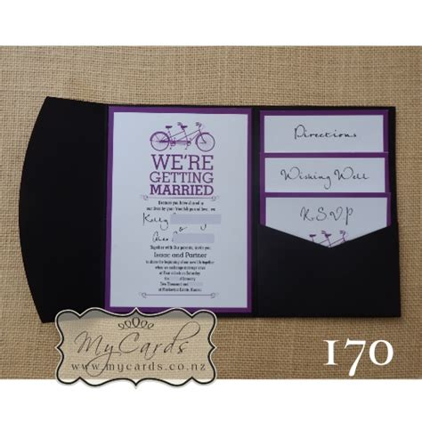 custom pocketfold wedding invitations a6 pocketfold with inserts wedding invitation 170 mycards