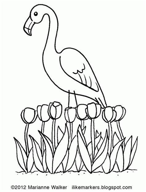 spring house coloring pages i like markers spring pink flamingo 238468 springtime