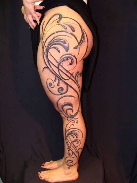 female thigh tattoos leg sleeve tattoos designs ideas and meaning tattoos