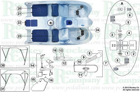 jazz pedal boat parts from www pedalboat