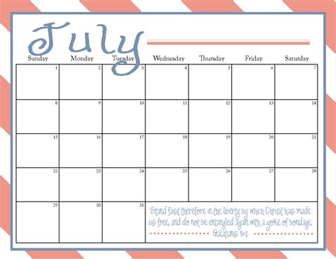 printable calendars com the blogging pastors wife printable july 2012 calendar