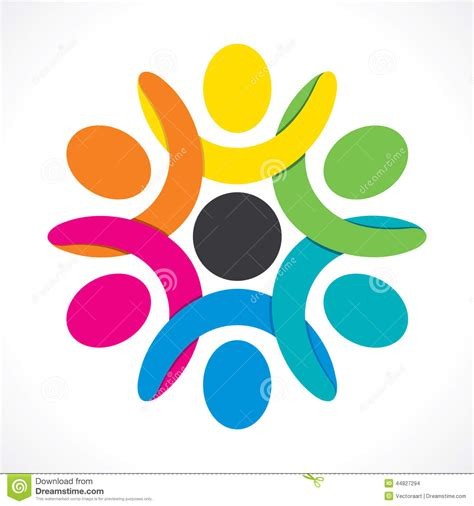 layout in unity colorful teamwork or unity design concept stock vector