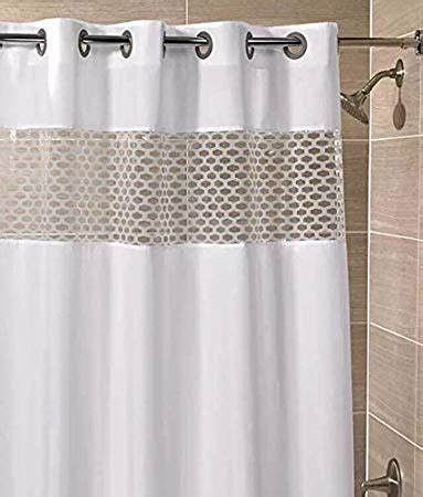 shower curtain that lets light through view top fabric shower curtain hookless curtain