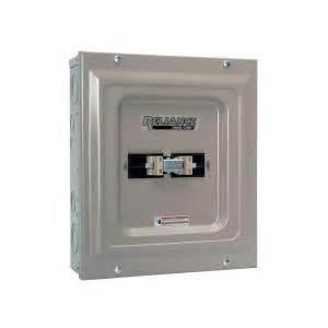 transfer home depot reliance controls 100 utility generator transfer