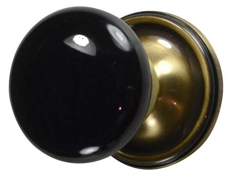 Black Interior Door Knobs by Black Porcelain Door Knob Antique Brass Plate