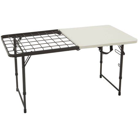 walmart lifetime folding table lifetime 4 fold in half cooking table walmart com