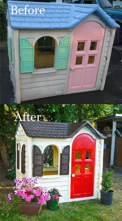 tikes playhouse yellow with roof 10 best images about tikes playhouse make