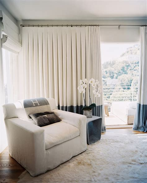 White Curtains Living Room by Simple House Designs