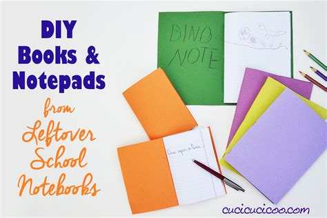 How To Make A With Notebook Paper - diy books and notepads reuse leftover notebook paper