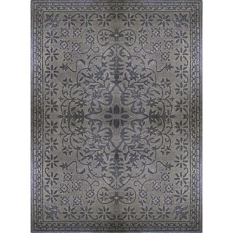 lanart rug charcoal vintage 8 ft x 10 ft area rug the