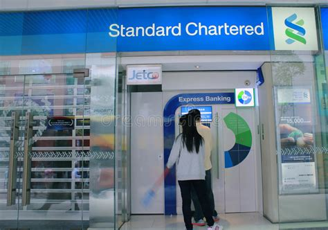 standard charter bank hk standard chartered bank in hong kong editorial stock image