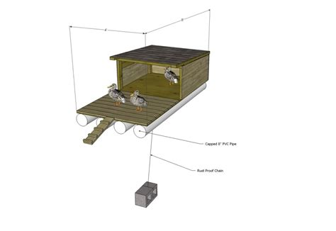 free duck house plans floating duck house floating duck house plans free backyardchickens chicken coop