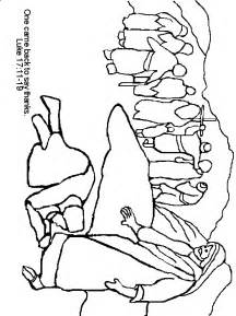 coloring pages jesus heals leper ten lepers coloring page